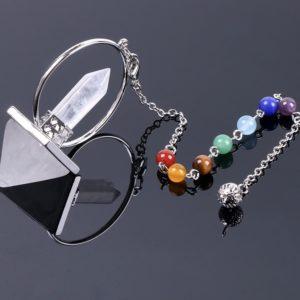 pendule divinatoire cristal de roche