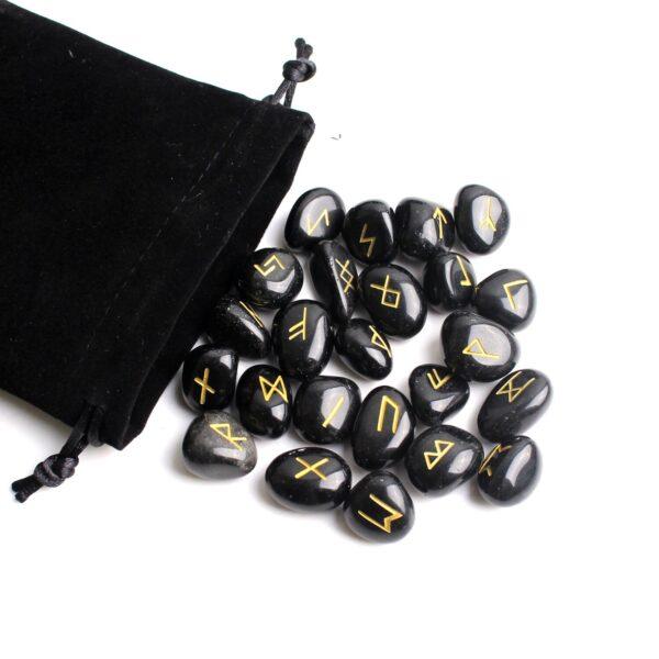 runes divinatoires obsidienne