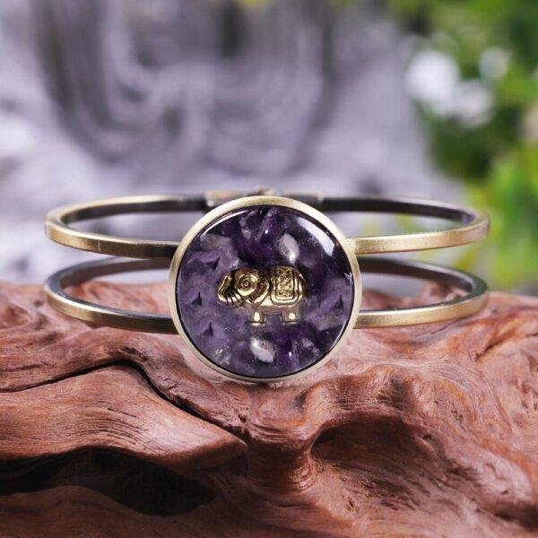 bracelet amethyste orgonite