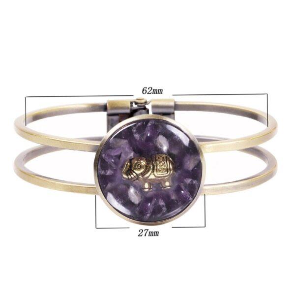 bracelet orgoite amethyste