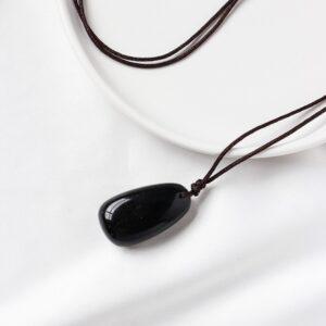 pendentif obsidienne noire