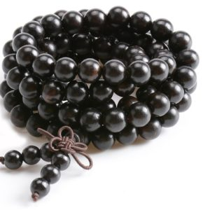 mâlâ 108 perles bois d'ébène