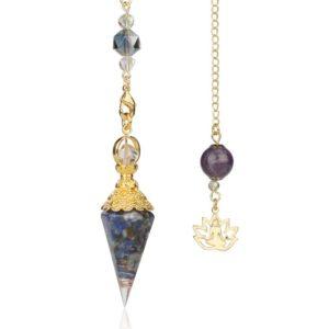pendule orgonite lapis lazuli
