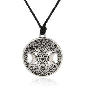 amulette pentacle et triple lune