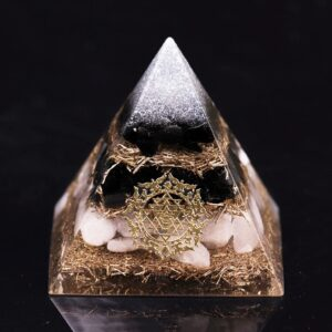 pyramide orgonite obsidienne